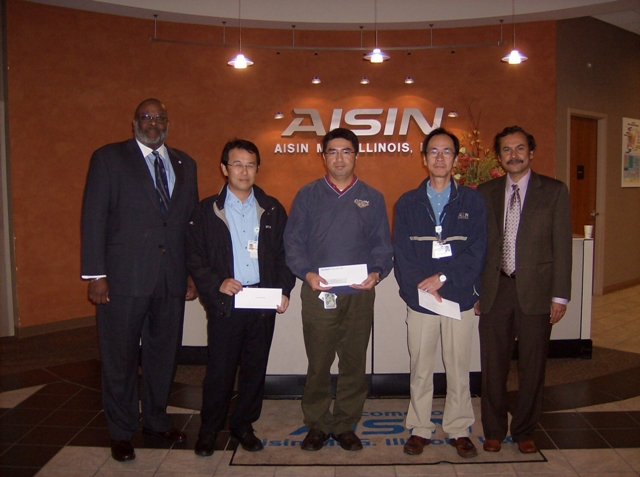 Aisin donates $20,000 to SIU College of Engineering