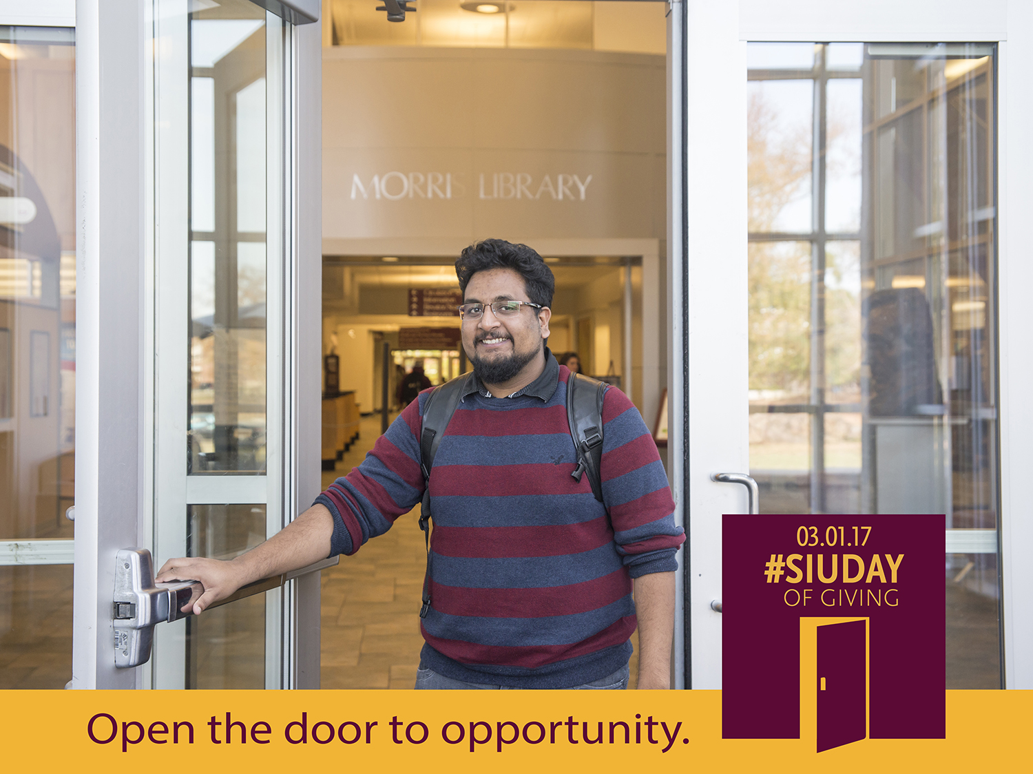 SIU Day of Giving – Open the door to opportunity at SIU Morris Library