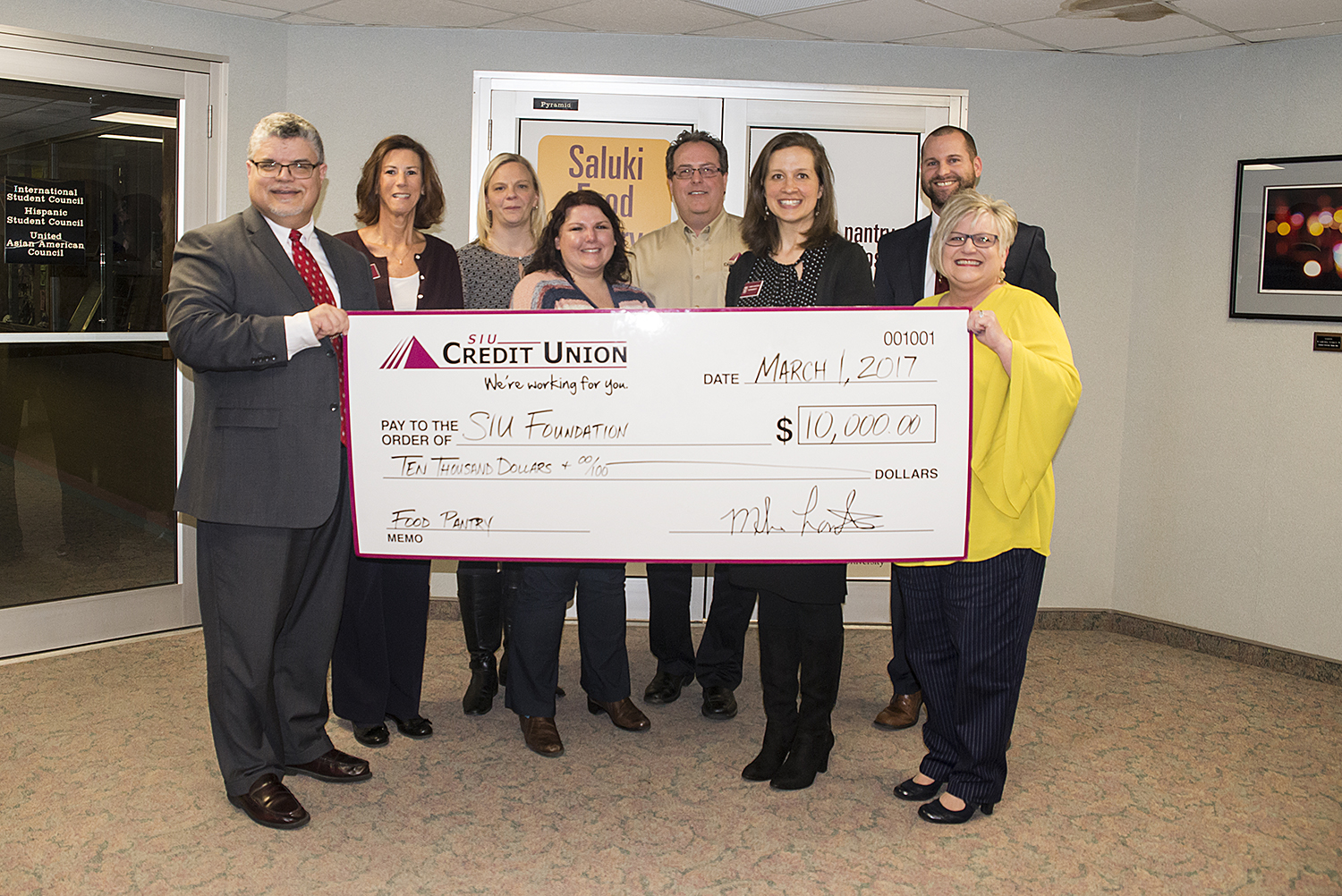 SIU Credit Union Makes First Corporate Gift for SIU Day of Giving
