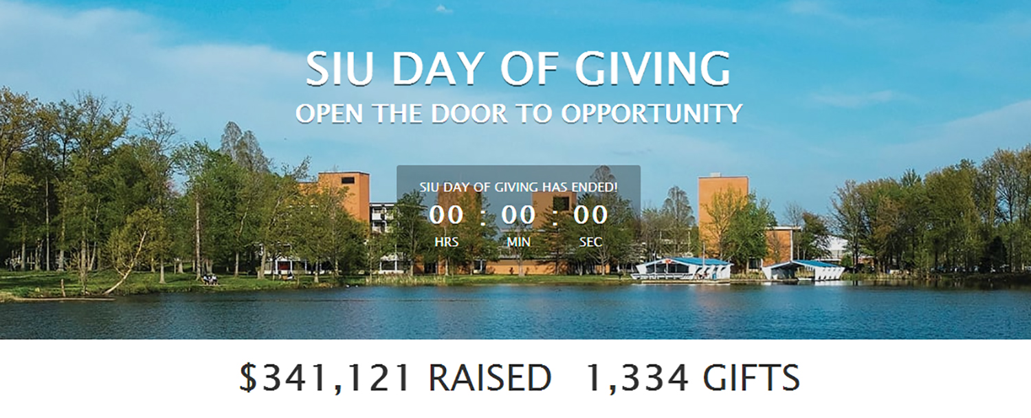 SIU Day of Giving totals $341,121