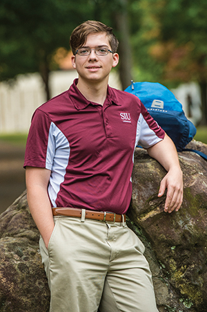 SIU Student Jacob Trammel - Bertrand Scholarship recipient