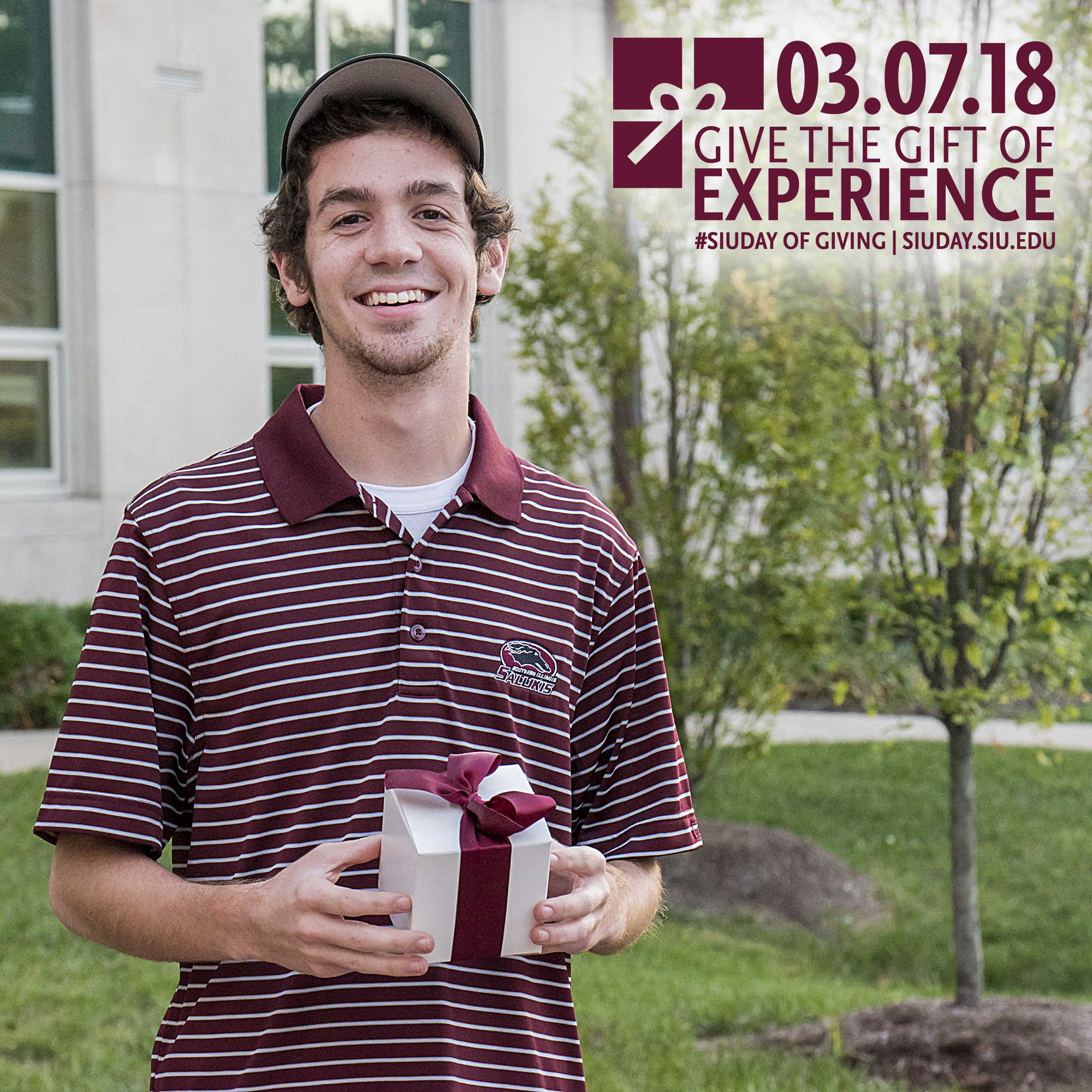 SIU Student William Locher, SIU Day of Giving 2018: Give the Gift of Experience