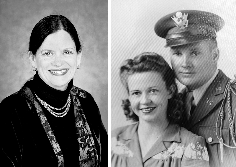Susan McClary (left) and her parents, Dan and Toccoa McClary (right).