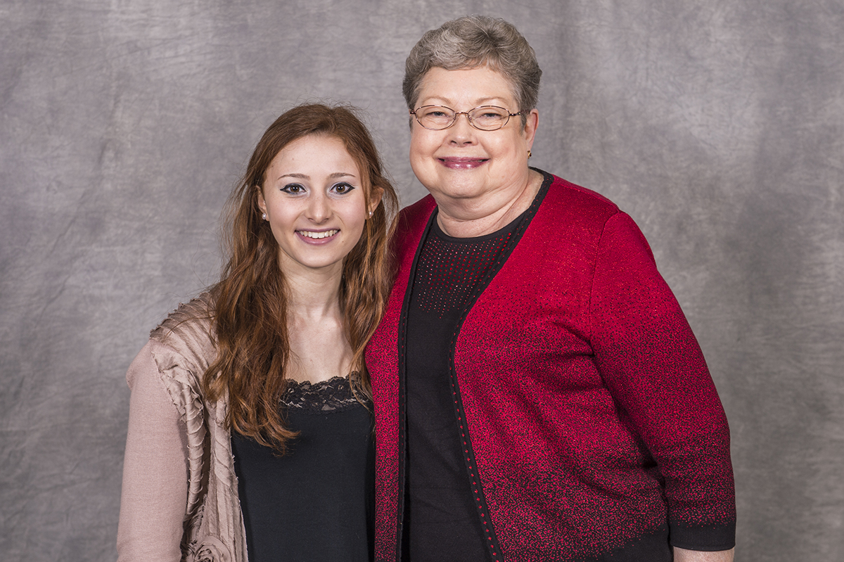 Abbie Spiwak (left) is pictured with her scholarship donor, Judith Rossiter (right).