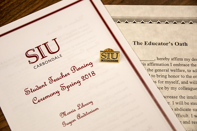 SIU Teacher Education Program Pinning Ceremony