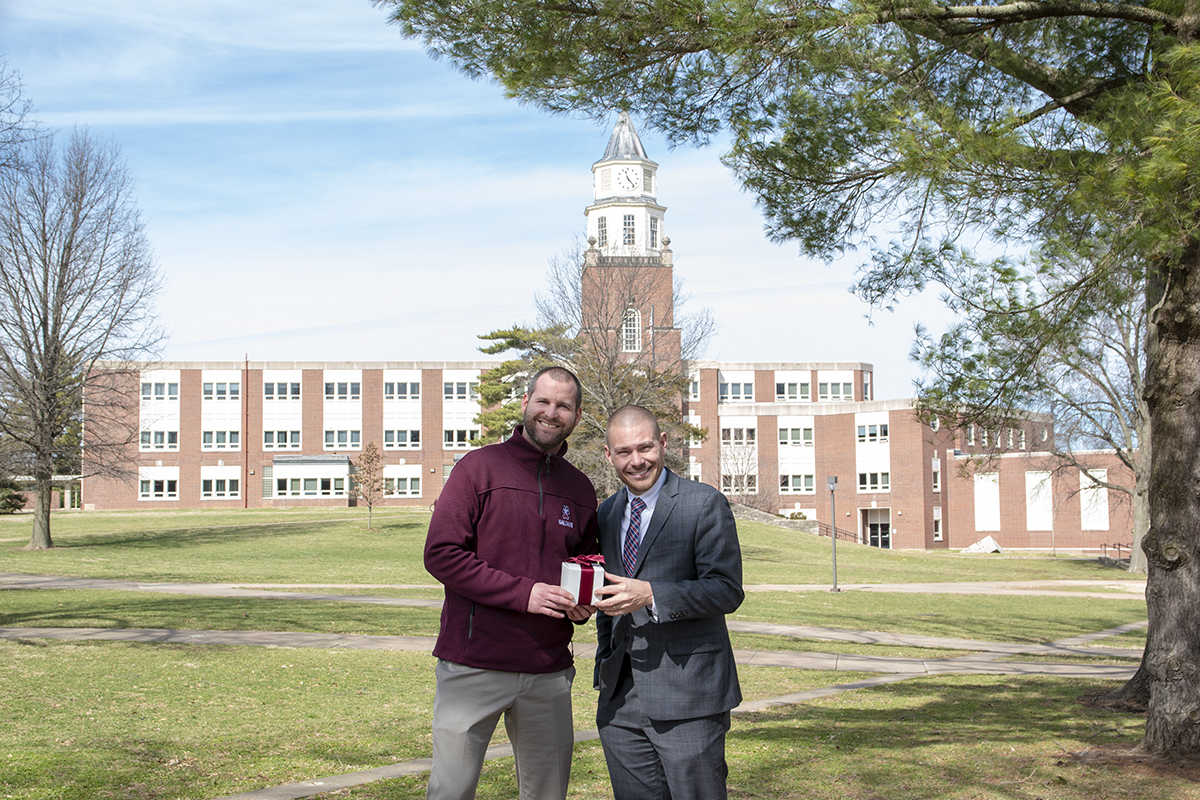 Paul Melzer and Ian Reinhart, both SIU alumni and Country Financial representatives, have chosen the department's K9 fund for a Day of Giving matching gift.