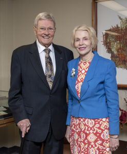 Judge Richard Mills is pictured with his wife Rachel.