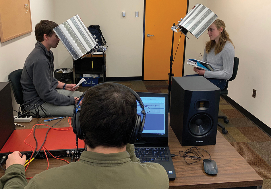 SIU English department podcasting lab.